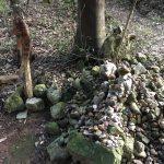 水木しげるとカニ♡美保神社の先には黄泉比良坂